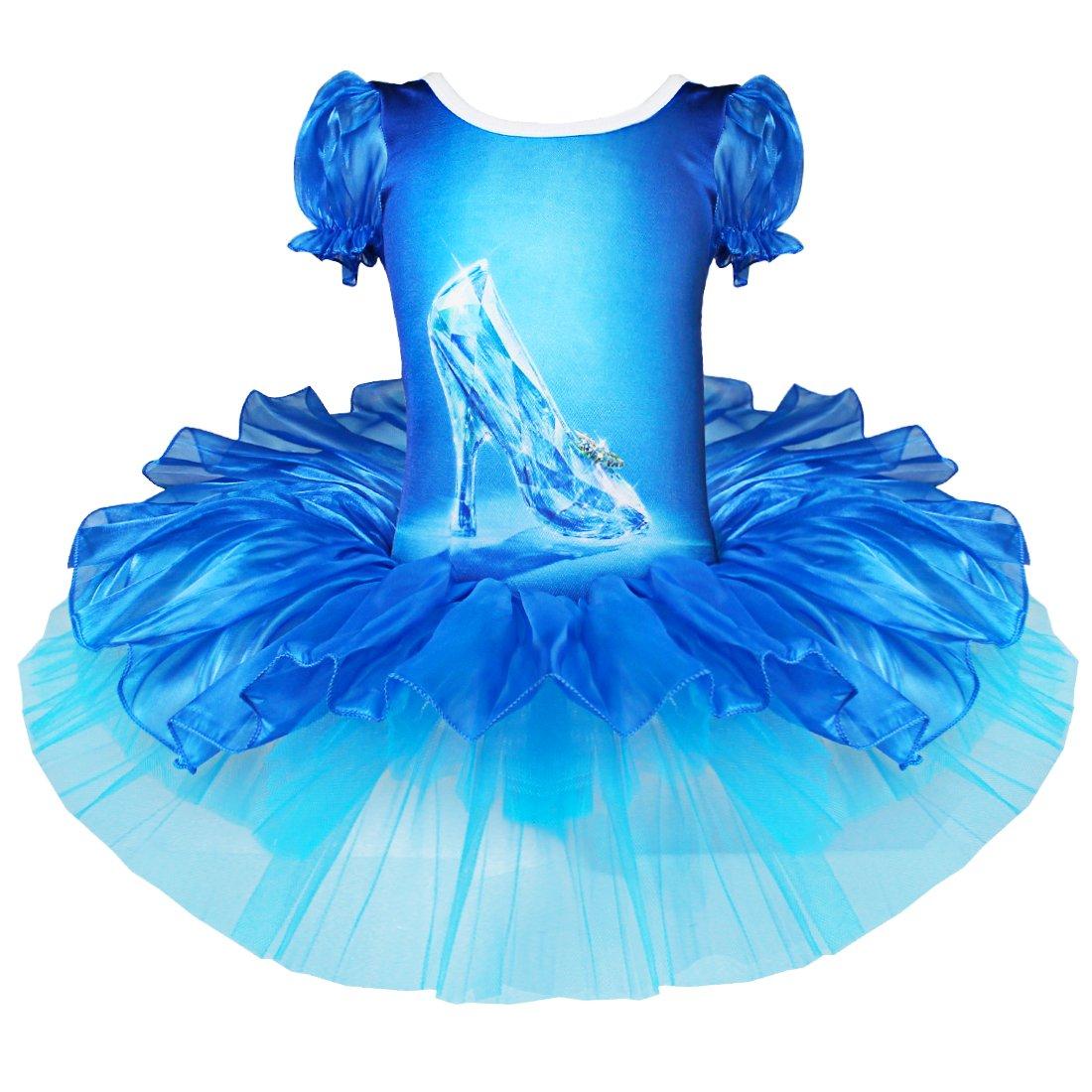 iEFiEL Girls Kids Glitter Crystal Shoes Ballet Dance Tutu Dress ...