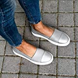 Women's Loafers Slip On Flatform Top Ruched Bowknot Fashion Flat Sneaker Driving Shoes Seaport Penny Loafer Silver