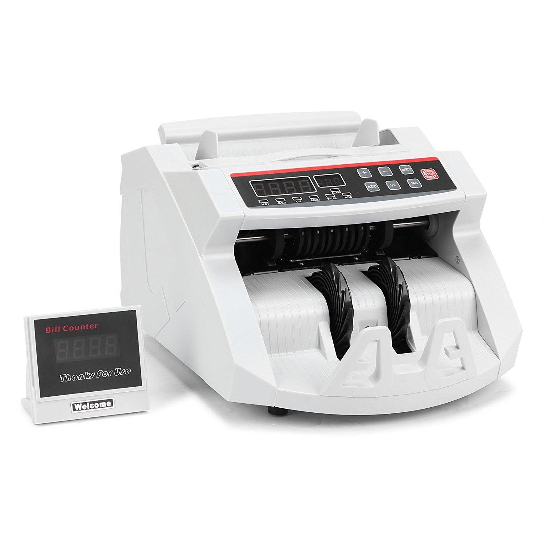 Oldriver Conta Banconote Denaro Contatore Con Display LED Contabanconote Professionale Con Rivelatore Di Banconote False Contasoldi Conta (banconote)
