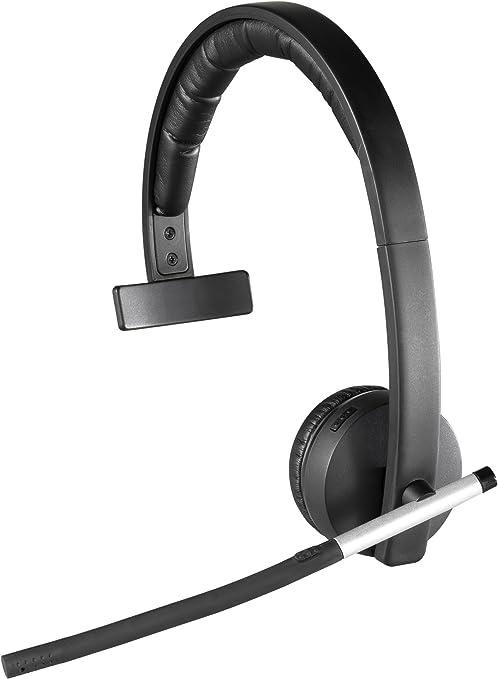 Amazon Com Logitech Wireless Headset H820e Single Ear Mono Business Headset Black Computers Accessories