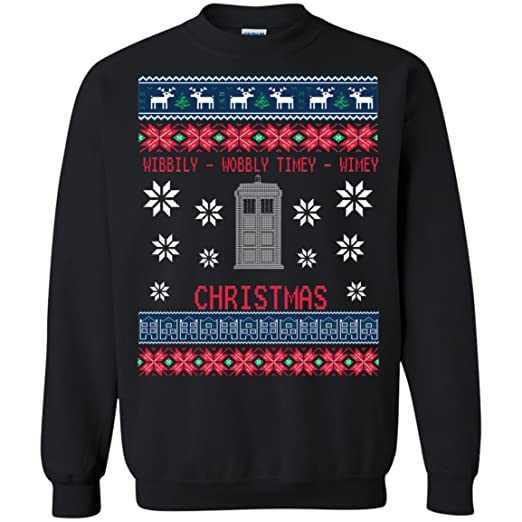 Amazoncom Inspired Doctor Who Ugly Christmas Sweater Unisex