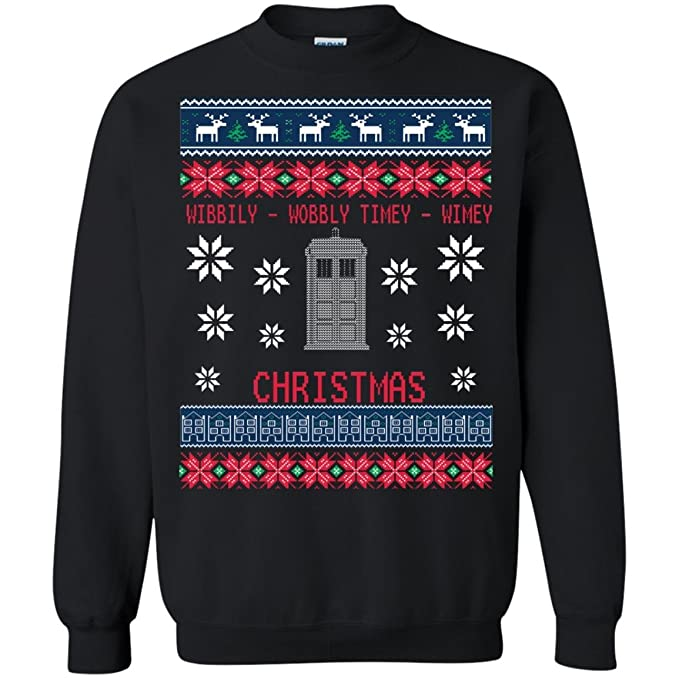 Dr Who Christmas Sweater.Teepowers Inspired Doctor Who Ugly Christmas Sweater Unisex Sweatshirt