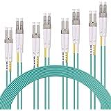 10Gtek LC-LC OM3 Fiber Patch Cord, 10Gb Multi-Mode Duplex 50/125, LSZH, 2-Meter(6.5ft), Pack of 4