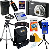 Sony Cyber-shot DSC-W800 20.1 MP Digital Camera with 5x Zoom & Full HD 720p Video, Black (International Version) + NP-BN1 Battery & AC/DC Charger + 9pc 32GB Deluxe Accessory Kit w/ HeroFiber Cloth