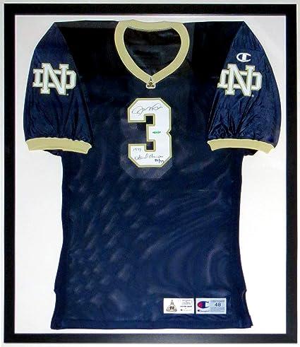 2c24b9148 Joe Montana Signed Champion Notre Dame Game Model Jersey & 1977 National  Champions Incscription L.E. #