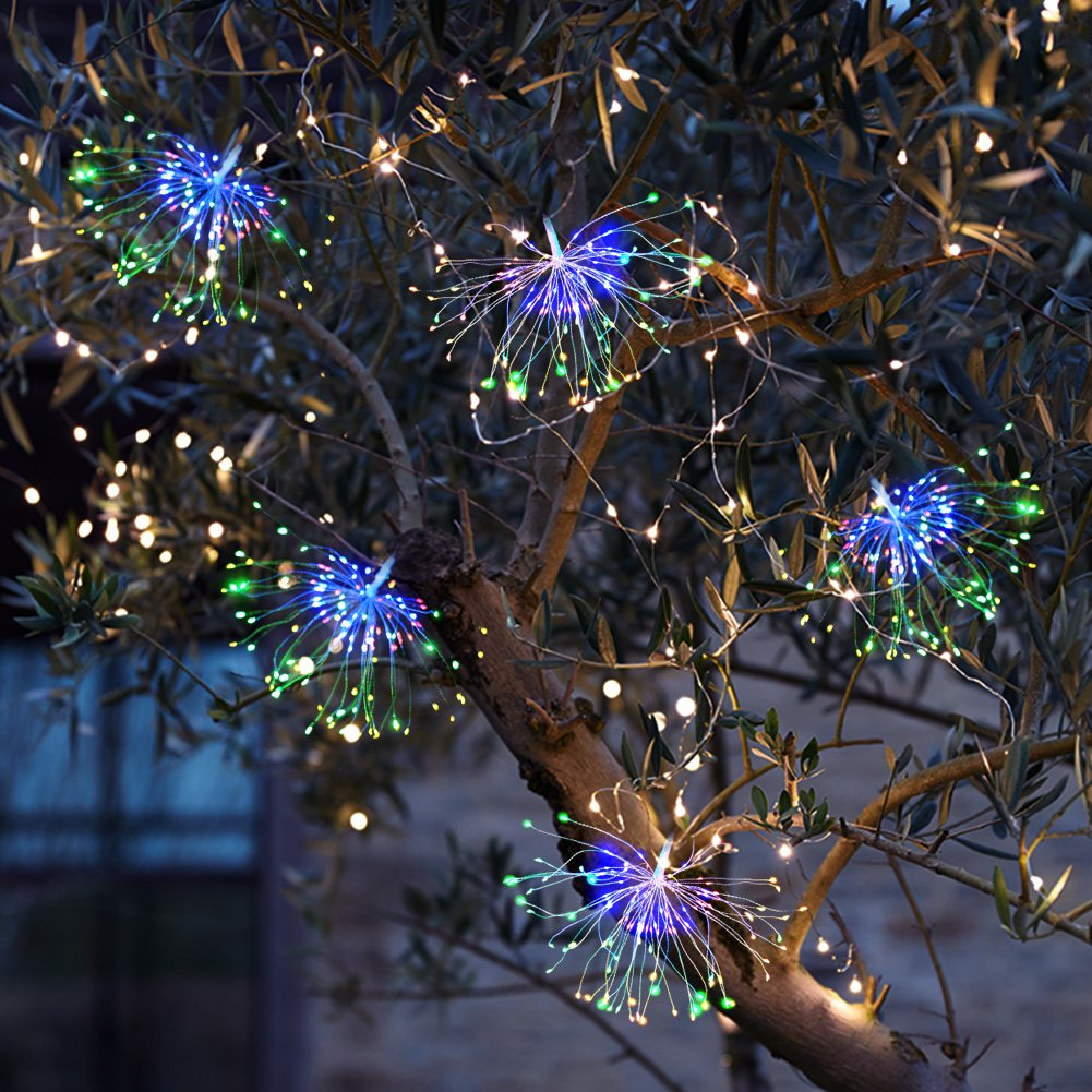 Battery Operated String Lights- 100 LED Fairy Lights with Remote and Timer (8 Modes, Dimmable, IP65 Waterproof, RGB Color Changing ) for Bedroom Patio Indoor Party Garden Outdoor