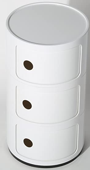 KARTELL STYLE COMPONIBILI 3 TIER DRAWER BEDSIDE UNIT TABLE BATHROOM CABINET  CADDY BEDROOM CHEST ROUND MODULARKARTELL STYLE COMPONIBILI 3 TIER DRAWER BEDSIDE UNIT TABLE  . Round Bathroom Cabinet Uk. Home Design Ideas