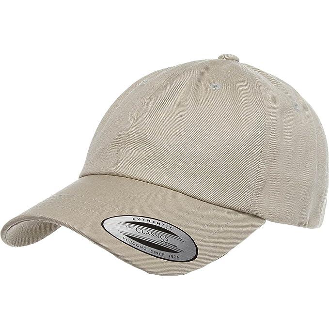 03631e7e24c Flexfit Yupoong 6245CM Low Profile Cotton Twill (Dad Cap) (Khaki)  Amazon.ca   Clothing   Accessories