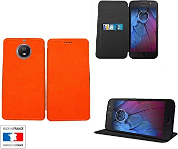 Motorola Moto G5S Plus Funda Piel Style Naranja Collection ...