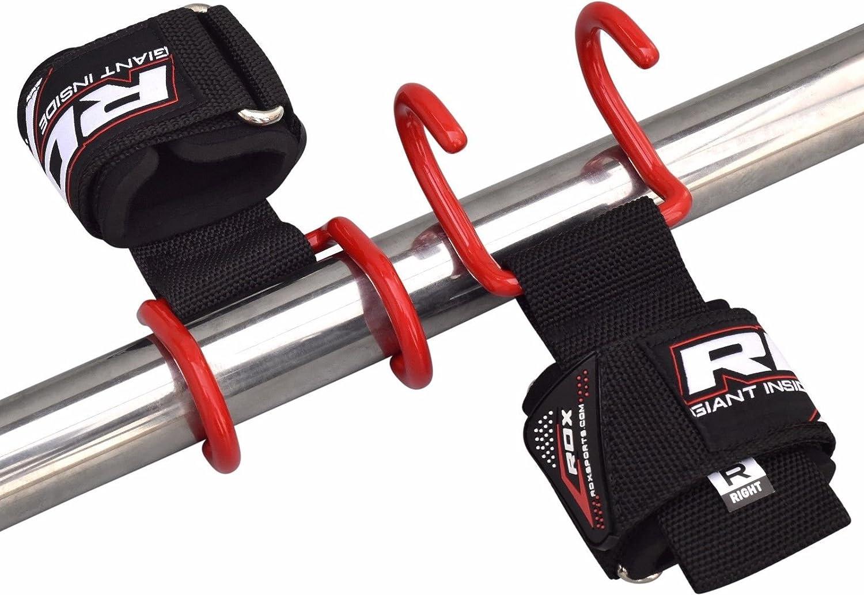 MEHRWEG RDX Zughilfen Krafttraining Latzughilfe Klimmzughaken Gewichtheben Handgelenkst/ütze Zughilfe Fitness