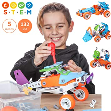 Amazon Com Toy Pal Educational 5 In 1 Build Play Stem Toys For