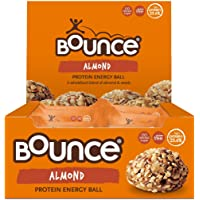 Bounce Almond Protein Ball- Box of 12. High protein, gluten free, low sugar healthy snacks with whey protein- better…