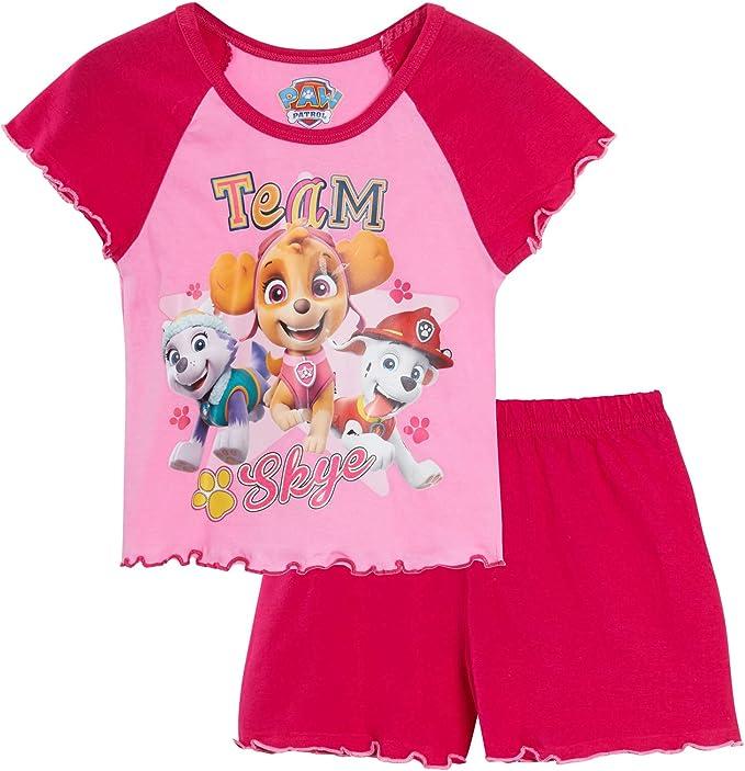 baby girls toddler pink PAW PATROL skye summer shorts t-shirt summer set 1-3 yrs