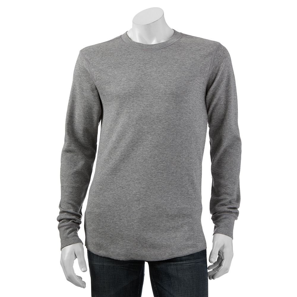 Croft & Barrow Long Sleeve Thermal Crew Shirt for Men