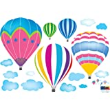 Reusable Decoration Wall Sticker Decal - Hot Air Balloons in the Sky