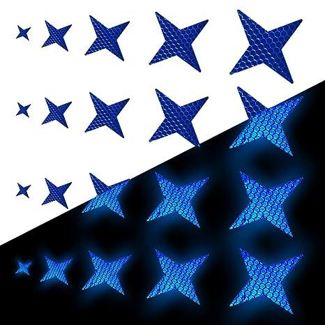Tuqiang Forma de Estrella de Cuatro Puntas Cinta Reflectante ...