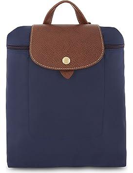 b511a5d240 Longchamp Sac à dos Le Pliage en nylon et en toile - Bleu Marine ...