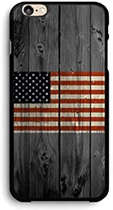 American Flag on Old Wooden Board iPhone Case,PC Hard Case for iPhone (7/8)