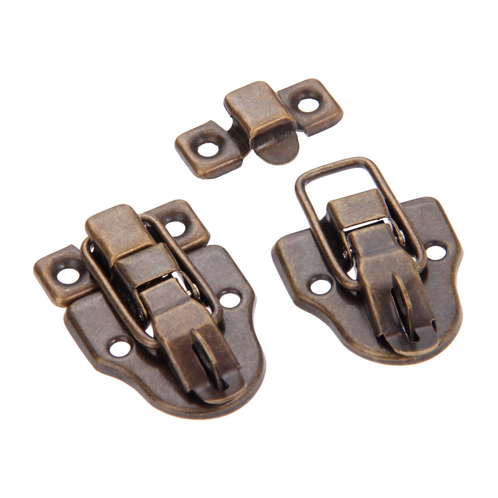 Dophee 10Pcs 2.32''x1.57'' Antique Bronze Retro Style Iron Toggle Fit Case Box Chest Trunk Latch Hasps by dophee (Image #5)