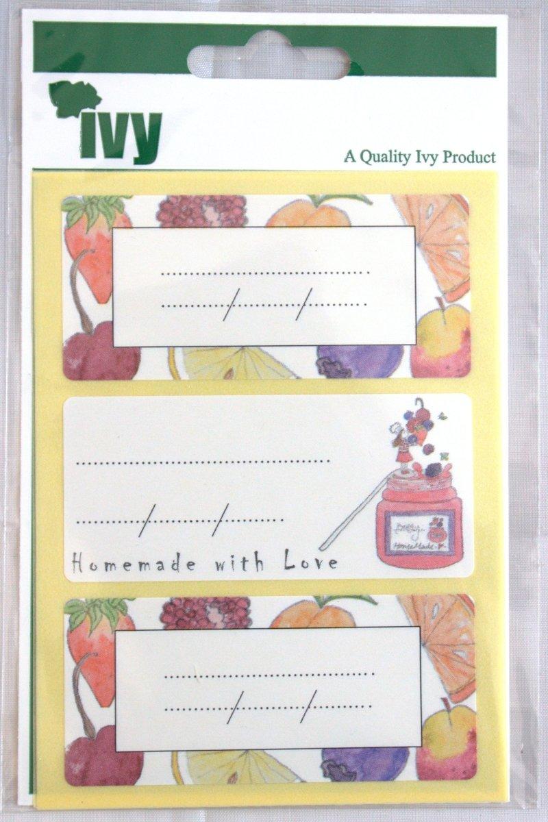 Ivy Pot à confiture Étiquettes autocollants étiquettes 34mm x 75mm (12stickers)