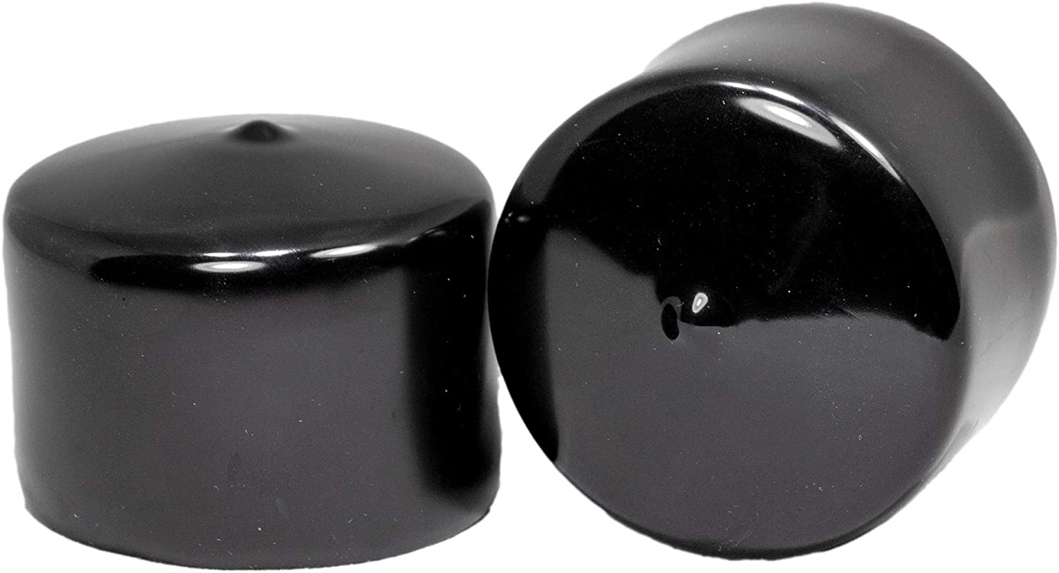 """3//4/"""" x 5/"""" Vinyl Round Pipe End Cap Cover Black Rubber Handle Lot of 20"""