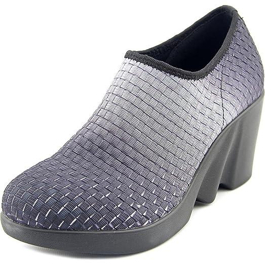 Women's Prather Black Ombre Woven Elastic Wedge Shoes