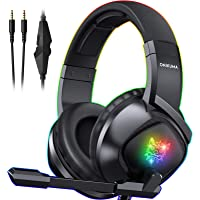 ONIKUMA K19 Gaming Headset -Xbox One Headset PS5 Headset with 7.1 Surround Sound Pro Noise Canceling Gaming Headphones…