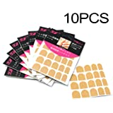 iNewcow 10 Sheets False Nail Tips Adhesive Glue Double-Sided Clear Tape Nail Art Stickers