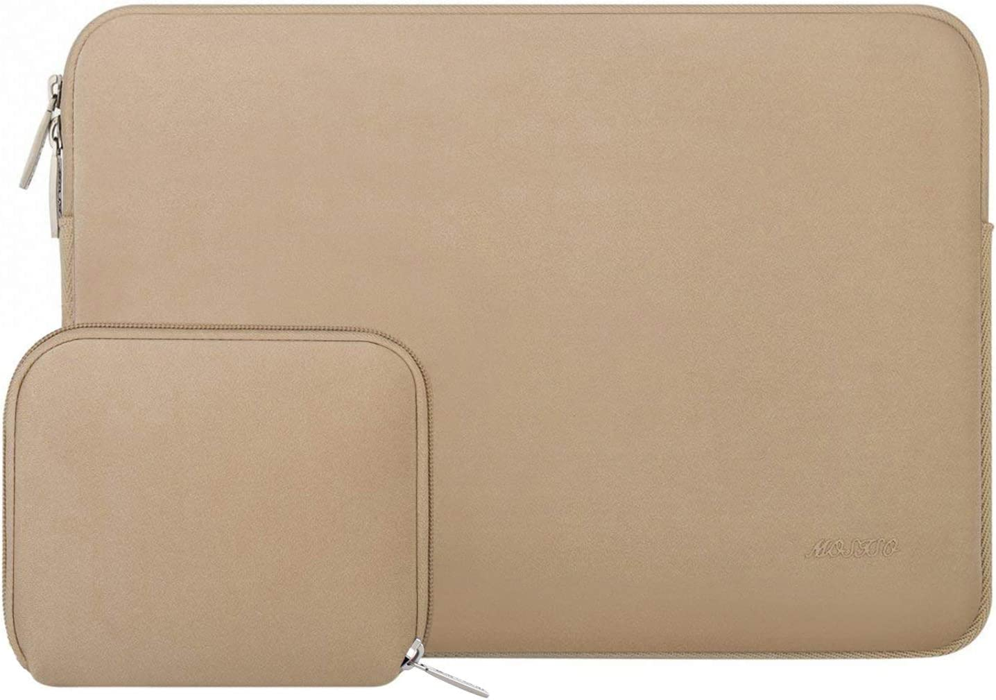 MOSISO Laptop Sleeve Compatible with 13-13.3 inch MacBook Pro, MacBook Air, Notebook Computer, Water Repellent Neoprene Bag with Small Case, Apricot