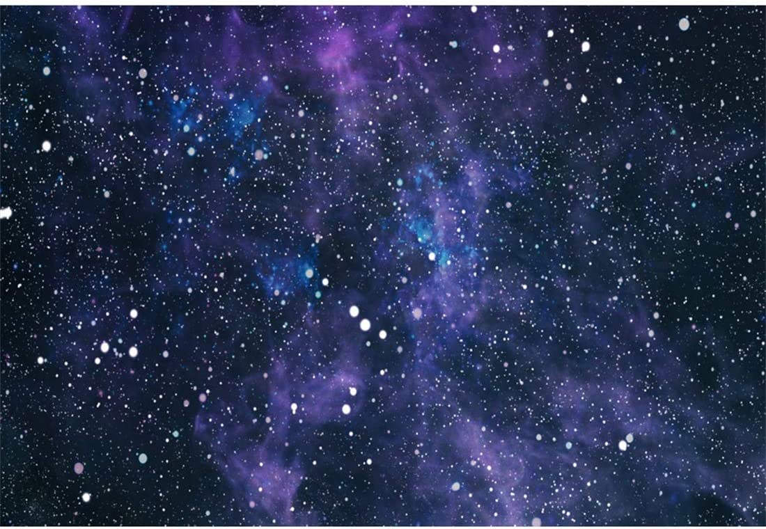 HD Galaxy Themed Party 7x5ft Meteor Palnets Shining Stars Photography Background Cotton Backdrop Photo Studio Props EADS186 Wrinkle Resistance