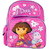 """Dora the Explorer and Boots Thinking and Waiting Girls 12"""" School Backpack Bag"""