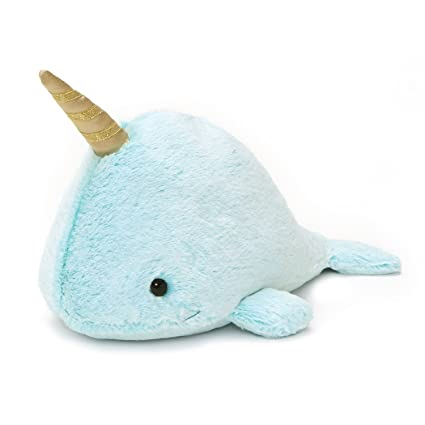 Amazon Com Gund Nori Narwhal Stuffed Animal Plush Blue 12 Toys