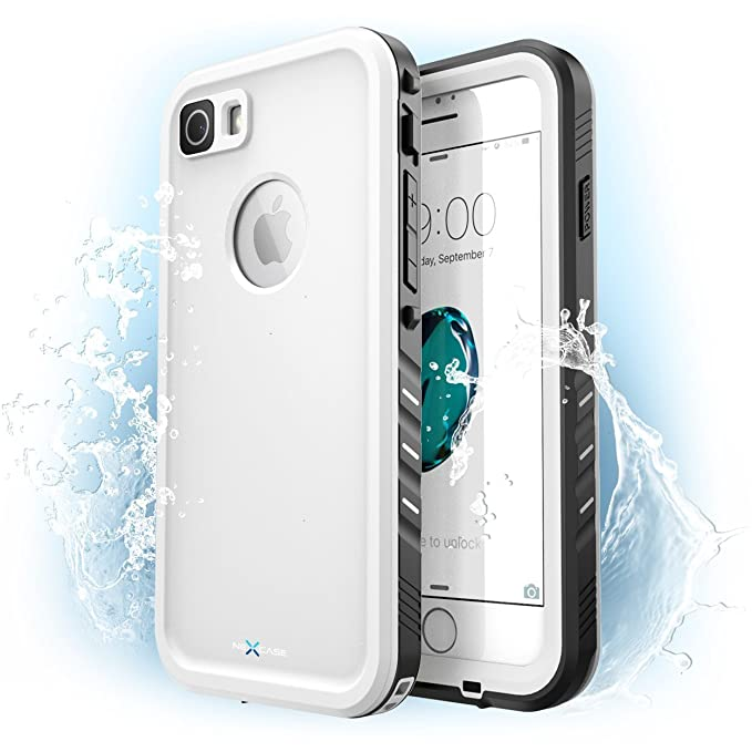 separation shoes 75bf8 1cf31 iPhone 7 Case, NexCase Waterproof Full-body Rugged Case with Built-in  Screen Protector for Apple iPhone 7 2016 Release (White)