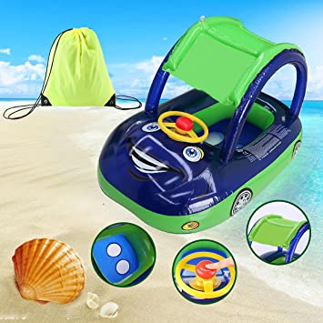Happon Inflatable Baby Pool Float Baby Float Seat With Sun Canopy Swim Ring Pool Float For  sc 1 st  Amazon.com & Amazon.com: Happon Inflatable Baby Pool Float Baby Float Seat With ...