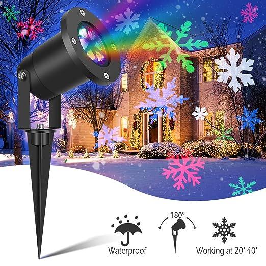 Proyector de nieve con luces LED de Navidad - Proyector de copo de ...