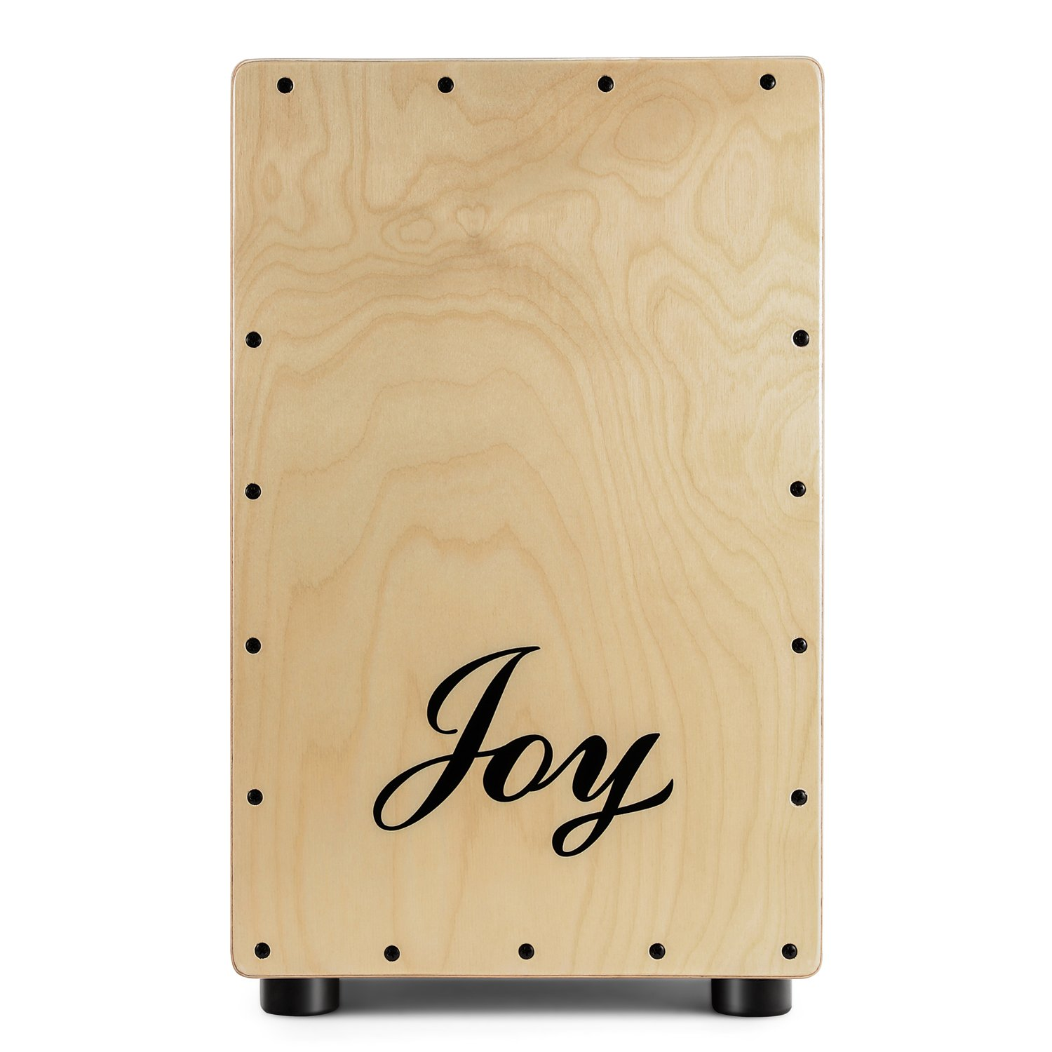 JOY 104 Standard Series Cajon with ASH Wood Tapping & Birch Body, Large Rubber Feet for Protection, Matte Finish CHINA JOY KEYBOARDS CO. LTD