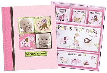 Amazoncom Baby Girl Memory Book Scrapbook Photo Picture Album