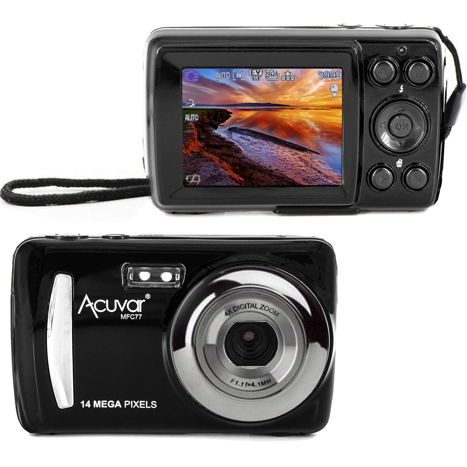Acuvar 14MP Megapixel Compact Digital Camera and Video with 2.4'' Screen and USB Cable by Acuvar