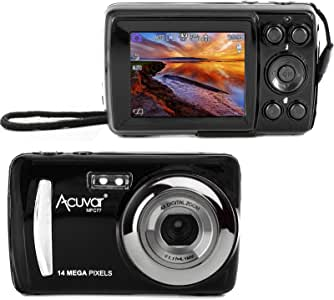 """Acuvar 14MP Megapixel Compact Digital Camera and Video with 2.4"""" Screen and USB Cable"""