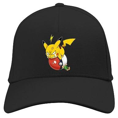Gorra Negra Pokémon humorística con Pikachu y Ash Ketchum (Parodia ...