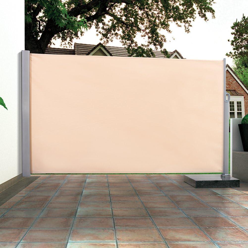 Toldo Lateral (de visión y cortavientos para terraza o balcón – Gris, 600 x 160 cm: Amazon.es: Jardín