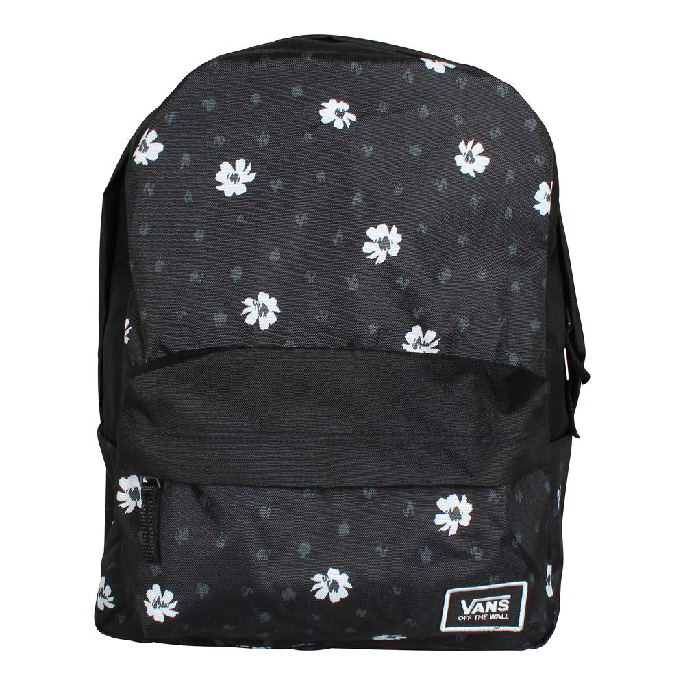 5110313c331 Amazon.com  VANS Realm Classic Backpack Black Abstract Daisy Schoolbag  VN0A3UI7YDN Vans bags  Clothing