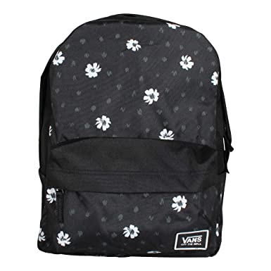 Amazon.com  VANS Realm Classic Backpack Black Abstract Daisy Schoolbag  VN0A3UI7YDN Vans bags  Clothing 74ca848ffb704