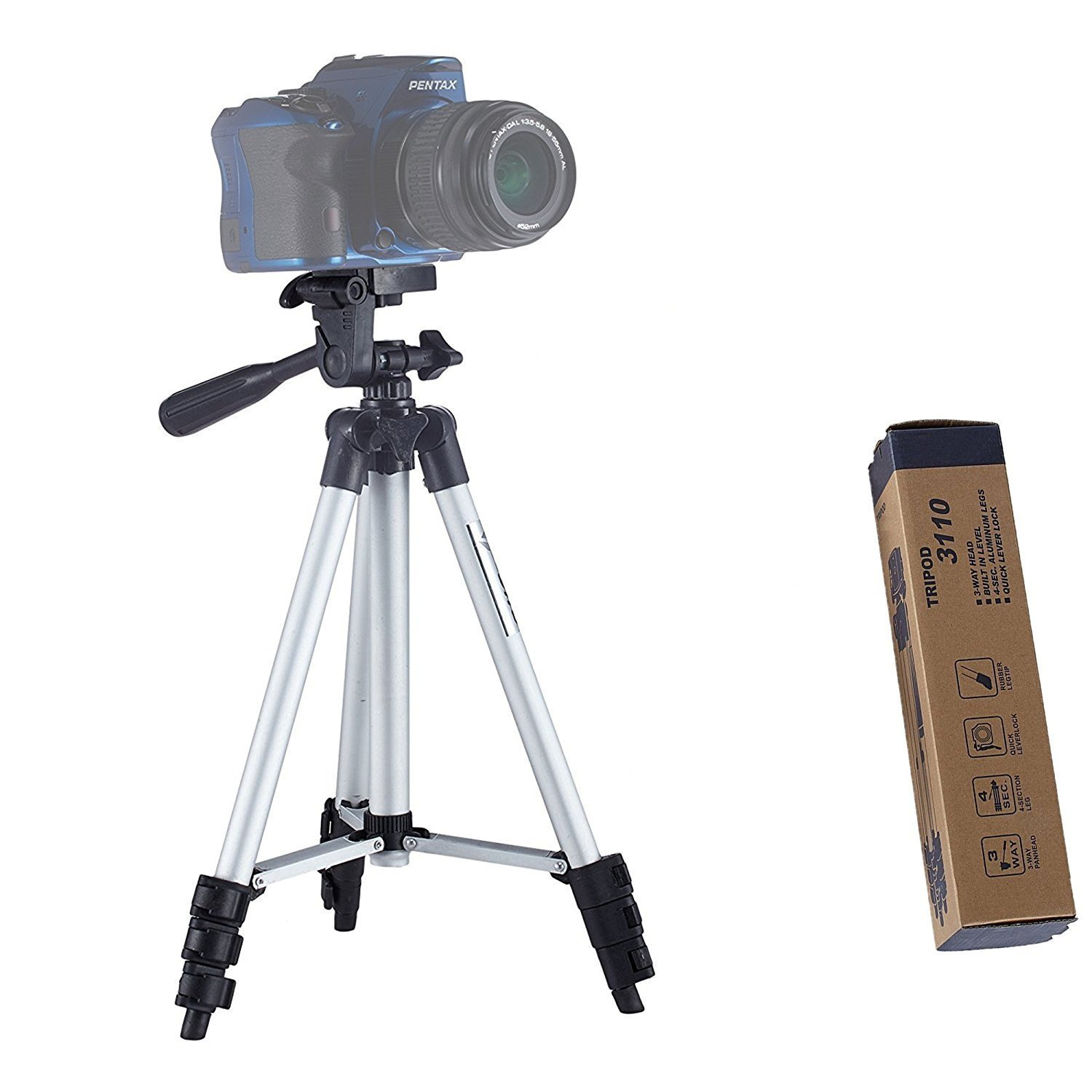 7d13fb4ee Buy Jhapat Tripod-3110 40.2 Inch Portable Camera Tripod with 3D Head    Quick Release Plate Online at Low Price in India