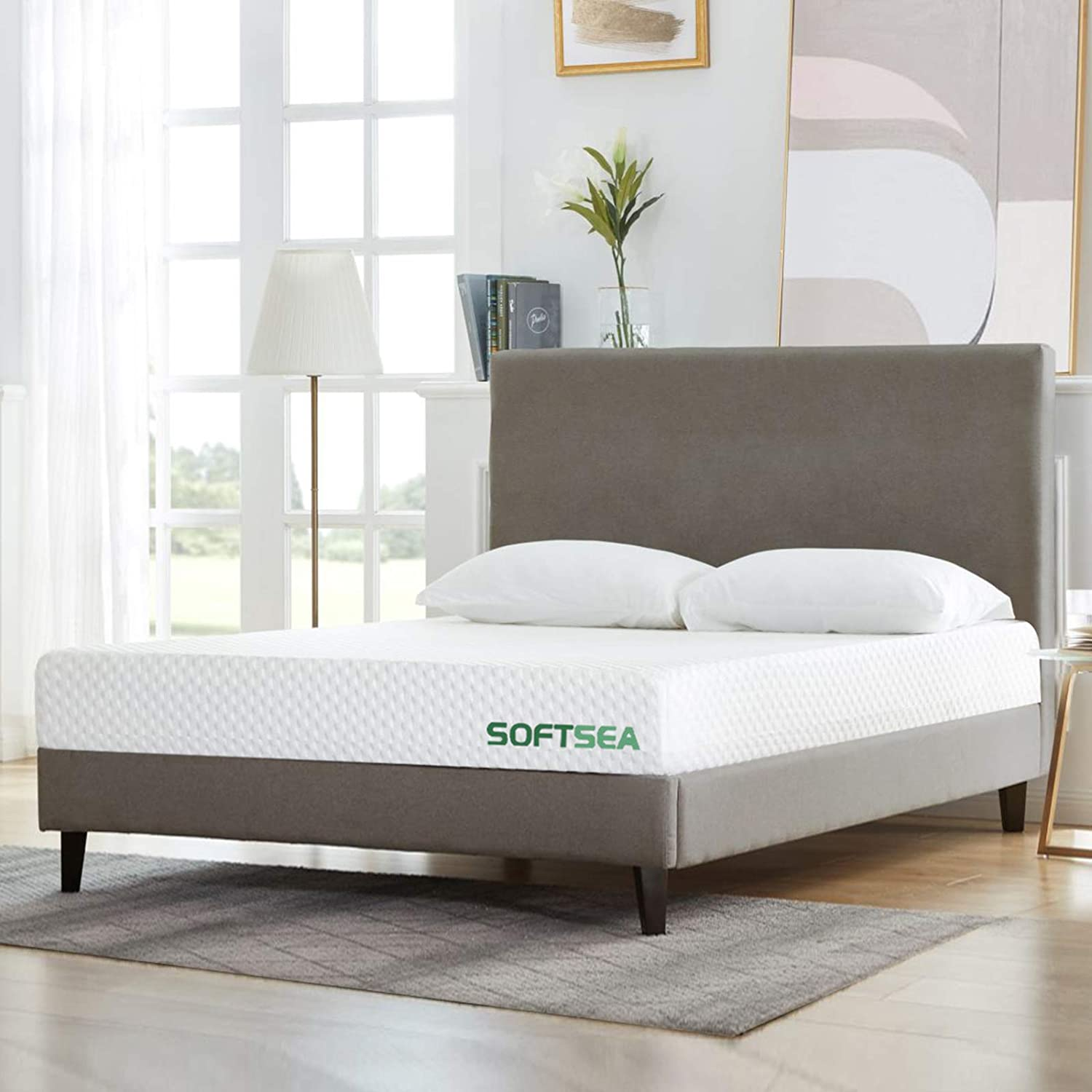 Full Size Mattress, SOFTSEA 6 inch Cooling-Gel Memory Foam Mattress in a Box for a Medium Comfort, Breathable Bed Mattress with CertiPUR-US Certified Foam, No Set-up, Easy Assembly, 10 Year Warranty