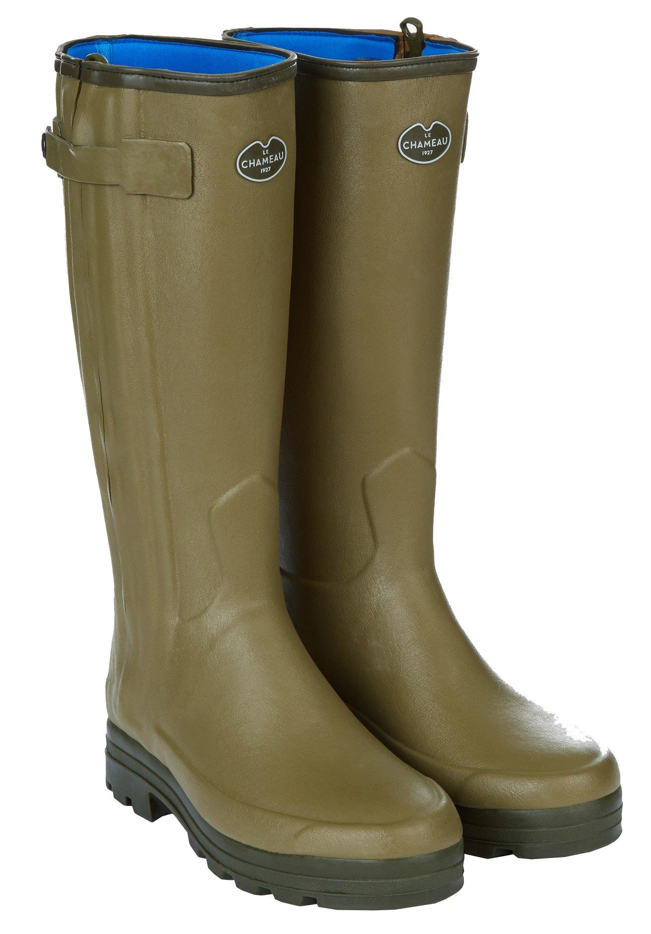 LE CHAMEAU 1927 Men's Chasseur Neoprene Lined Boot NÉO W - US 12 (Calf 41cm) Green