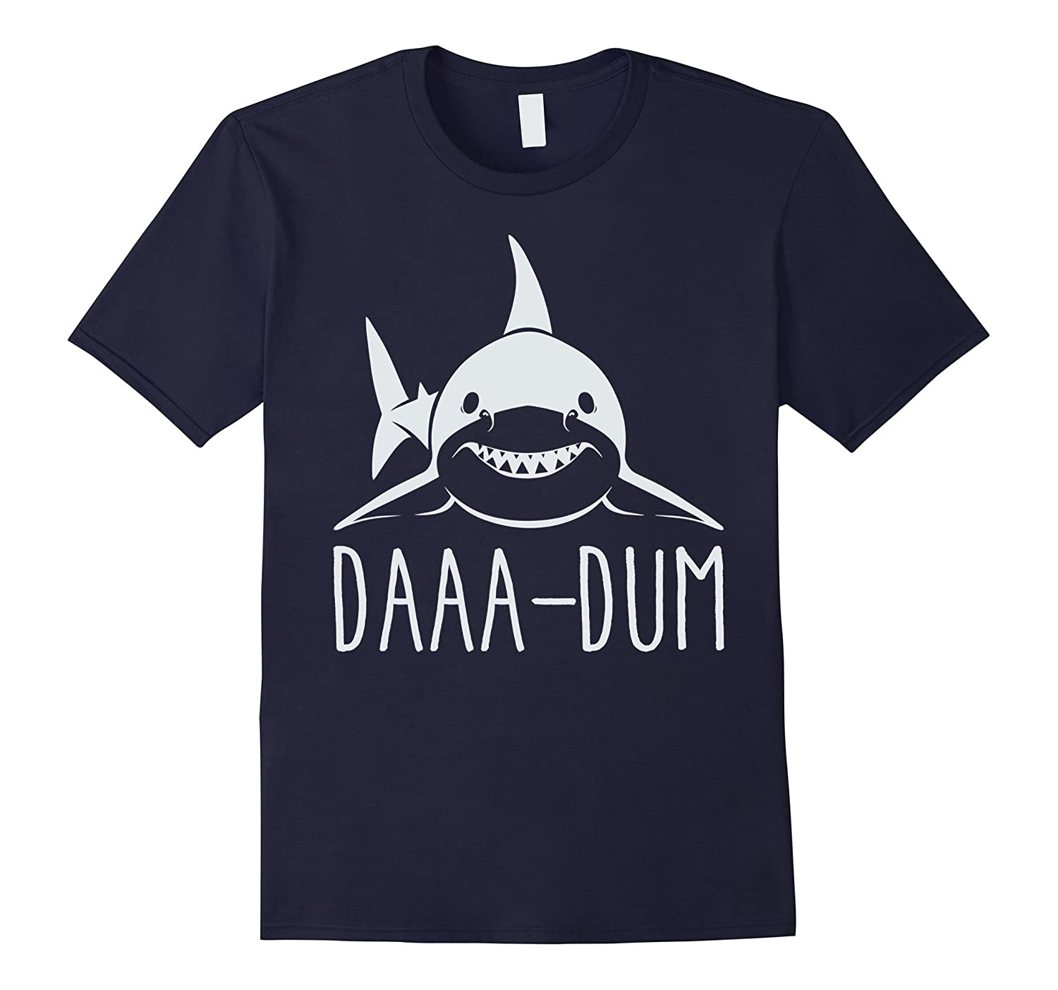 Daa Dum Shark Hunting Fear The Great White Funny T-Shirt-TD