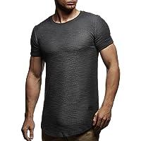 Leif Nelson Camiseta para Hombre con Cuello Redondo LN-6324
