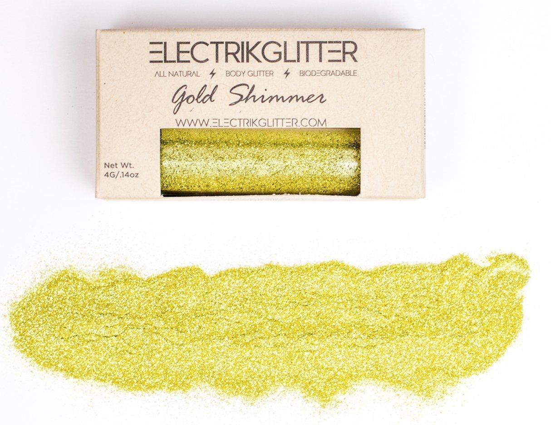 Electrik Glitter Biodegradable Fine Body Glitter (4G) (Gold Shimer)