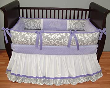 amazon com modpeapod brooklyn lavender breathable baby bedding set